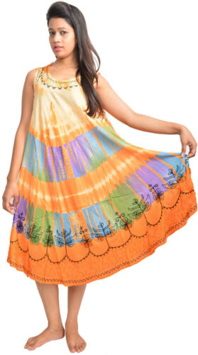 New style rayon tie dye wholesale 25 dresses from India