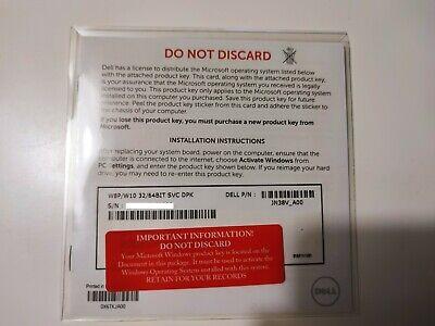 Windows 8 Pro / Windows 10 Product Key Genuine Sealed Dell ...