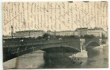 CARTE POSTALE  LYON PONT LAFAYETTE RETOUR A L ENVOPYEUR CAUSE DECES 1907