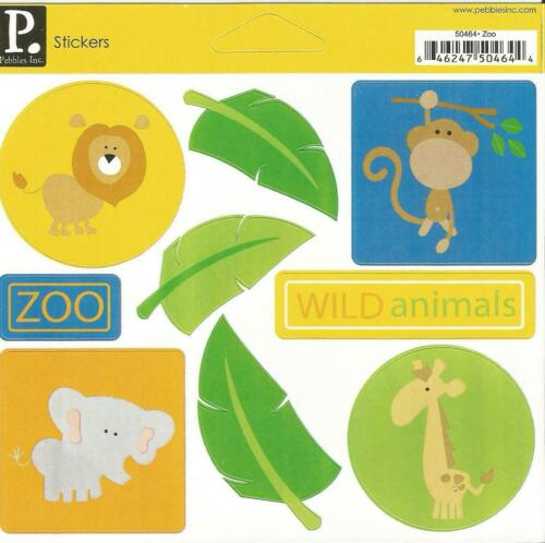 6 X 5 1// 2 ZOO STICKERS BY PEBBLES ** REDUCED **