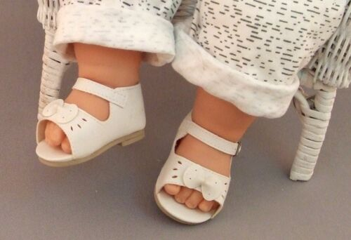 """2 PAIR of Fat Baby DOLL SHOES White Sandals fit 20/"""" Madame Alexander Dolls"""