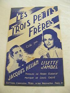 Partitura-Los-tres-petits-freres-Jacques-Helian-Jackson-Lisette