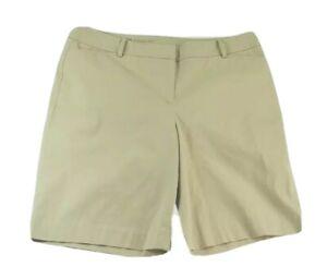 Talbots Womens Size 16 Bermuda Shorts Beige Tan Stretch Perfect Short XLarge XL