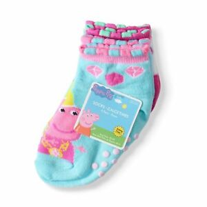 Toddler//Baby Girls/' Queen Peppa Pig Quarter Safety Toes Socks 5-pack  NWT