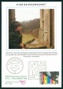 Bien Pays-bas Mk 1986 Voor Het Enfant Art Art Carte Maximum Maxi Card Mc Ek77-afficher Le Titre D'origine