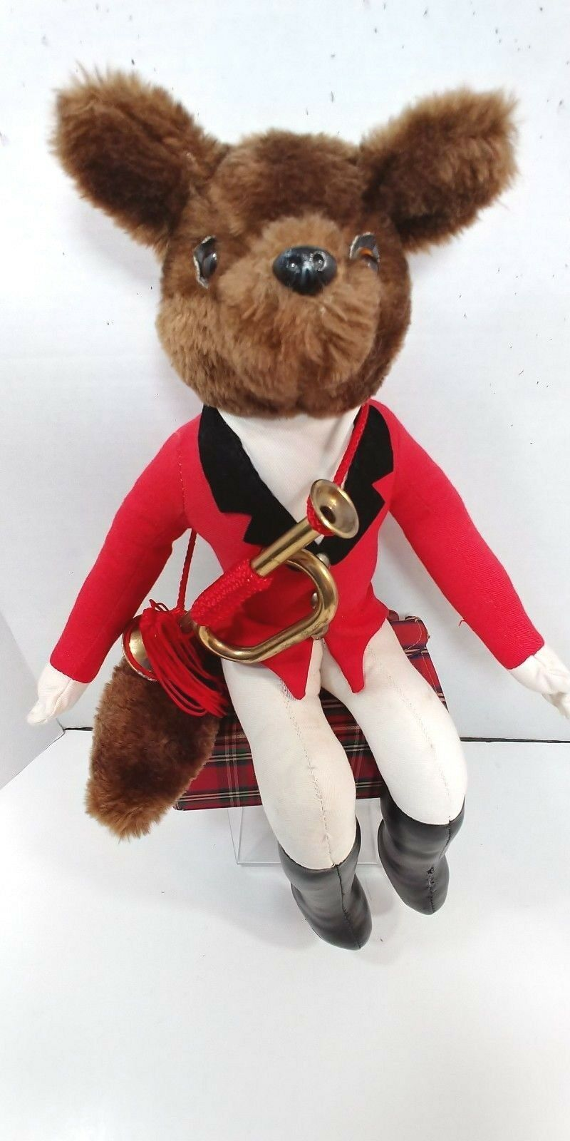 Sir Fox Hunt English Riding Brass Bugle Huntsman LG Stuff Animal Doll Hanford's