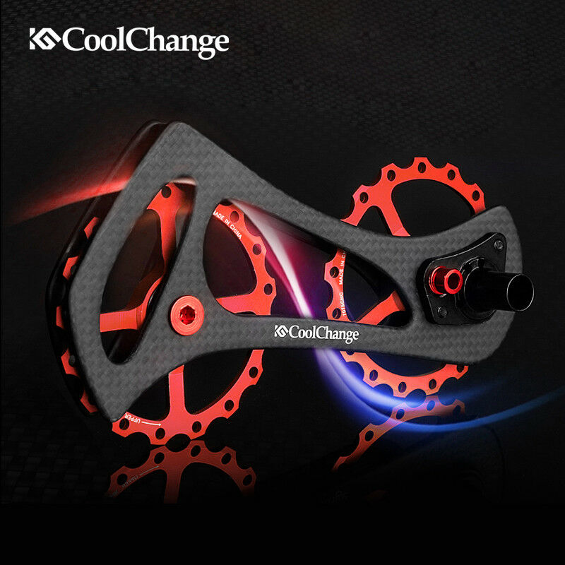 CNC Ceramic Bearings Carbon Rear Derailleur Pulley Wheel Drivetrain for  Shimano  best service