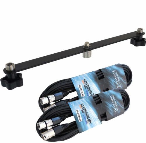 keepdrum STB01 Stereo Bar T-Bar 2x Mikrofonkabel XLR//XLR 6m
