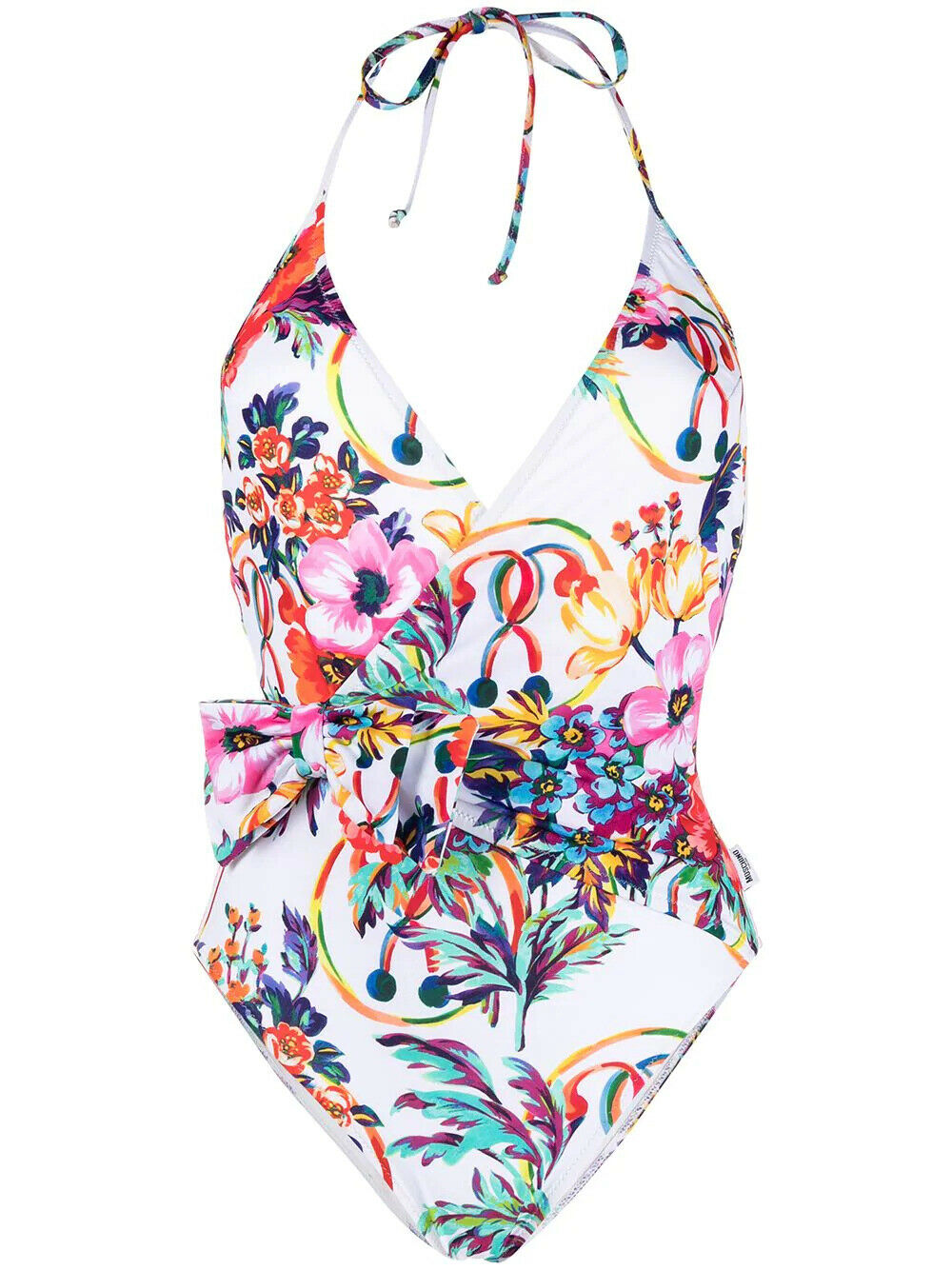 Moschino Badeanzug Weiß Mit Backformen Blumen 192MSD