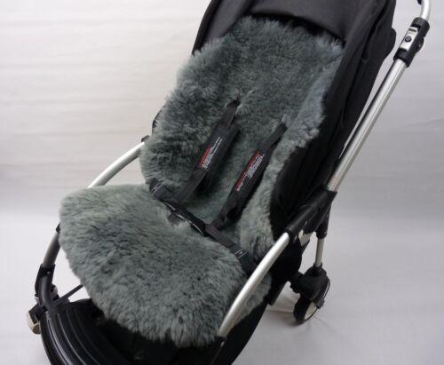 SHEEPSKIN GREY Buggy Pushchair Pram Car Seat Liner Mat Natural Warm/&Fluffy