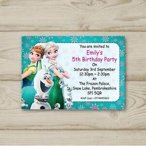 Frozen elsa anna olaf birthday party invitations personalised ebay image is loading frozen elsa anna olaf birthday party invitations personalised filmwisefo