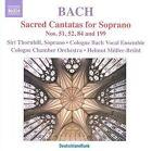 Johann Sebastian Bach: Sacred Cantatas for Soprano Nos. 51 52 84 & 199 (CD, Dec-2009, Naxos (Distributor))