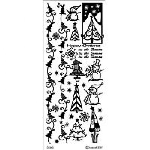 GOLD CHRISTMAS TIS THE SEASON PEEL OFF STICKERS FOR CARDS OR CRAFTS