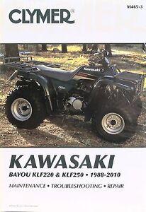 new kawasaki bayou klf220 klf250 service repair manual free ship ebay rh ebay com Kawasaki Oil Taylor Dunn Service Manual