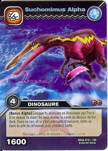 Carte dinosaur king attaque alpha suchomimus alpha dkaa 010 100 ebay - Carte dinosaure king ...