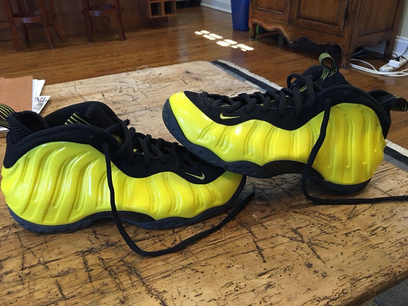 Nike Yellow Air Foamposite One Optic Yellow Nike Black Wu-Tang Clan Size 11 b35f91