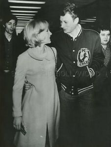 johnny hallyday sylvie vartan mariage 1965 vintage photo original 8 ebay. Black Bedroom Furniture Sets. Home Design Ideas