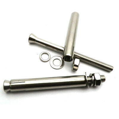 Pack of 5 - INC NUT /& Washer M16X130 A2 Stainless Steel HEX Head Bolt