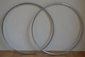 Vintage-1987-Rigida-Chromage-Superchromix-Steel-Rims-36-Hole-700c-Pair