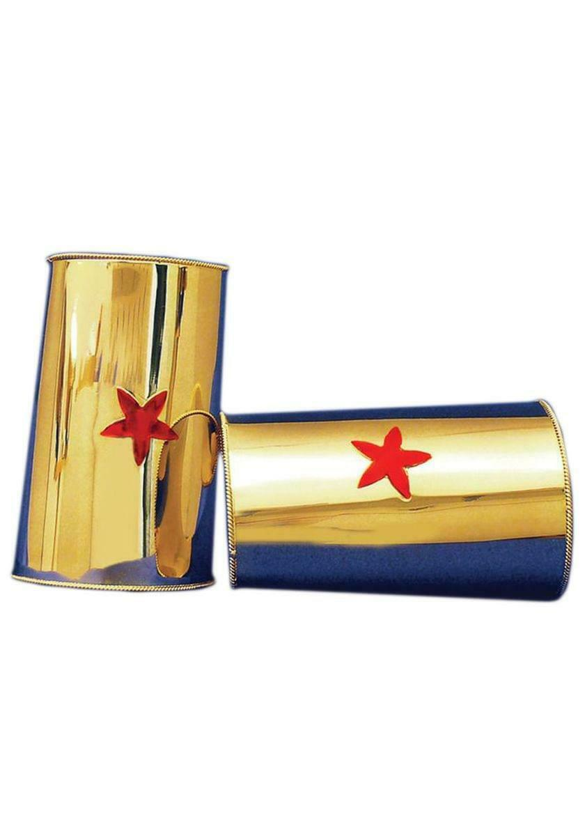 Wonder Gold Cuff Red Star Costume Jewelry Adult One Size