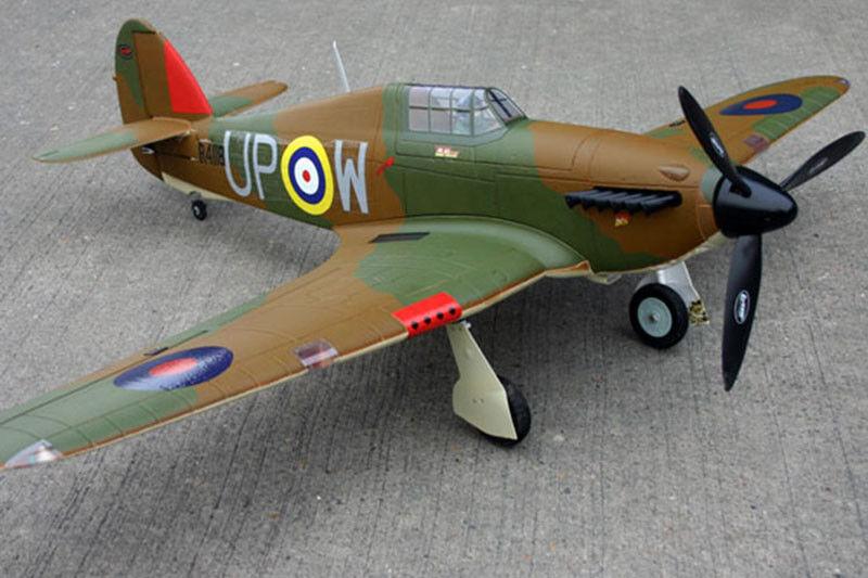 Dynam 1250MM Hawker Hurricane RC Airplane RTF Model W  ESC Propeller Motor