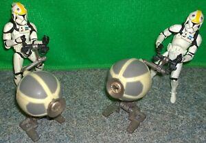 Star-Wars-Republic-Gunship-Turret-Clone-Trooper-Pilot-Action-figure-Lot-Used