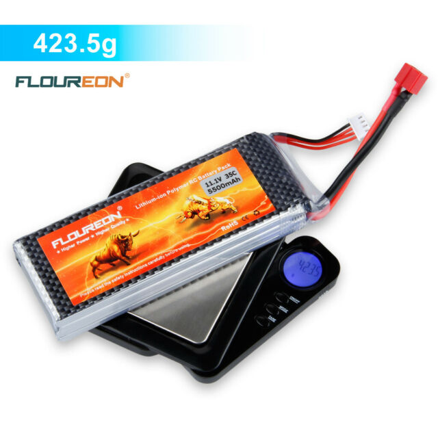 5500mAh 11.1V 3S 35C RC Lipo Battery Deans Plug For RC Helicopter Airplane Car