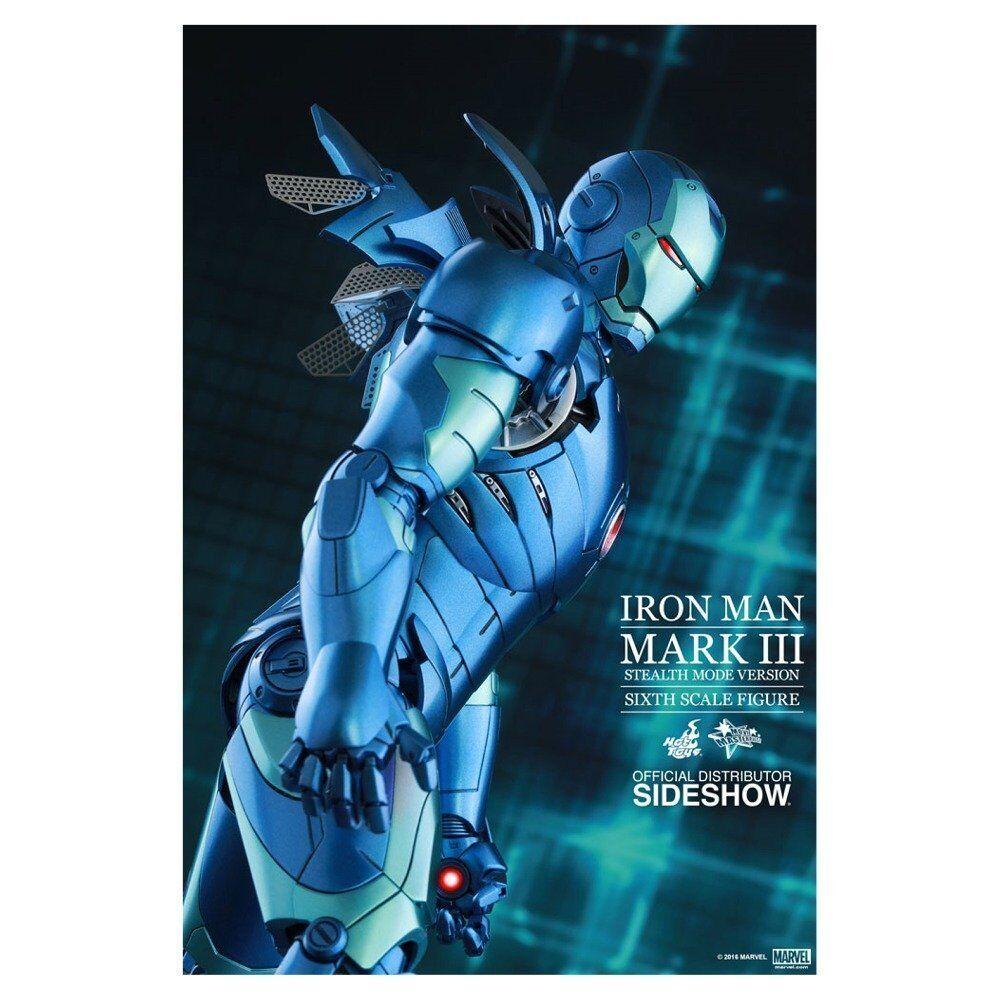 Movie Master Piece Diecast Iron Man Mark 3 bleu furtif Ver 1 6 action figure