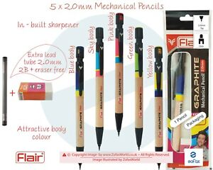 2 x 2mm LEADHOLDER//ERASER-TWISTABLE//REFILLABLE HB PENCIL--for 2MM LEADS