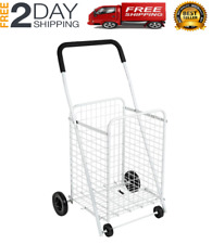 Grocery Utility Shopping Cart 50lbs Compact And Folding Portable With Wheels