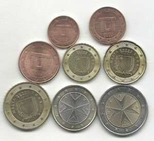 Malta-serie-completa-circulacion-Euro-2008-8-VALORES