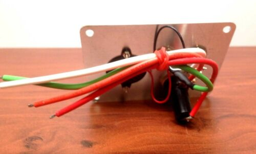 "MARINE BOAT BILGE ALARM PUMP SWITCH ALUMINUM PLATE 3.25/"" by 2.5/"" LED INDICATORS"