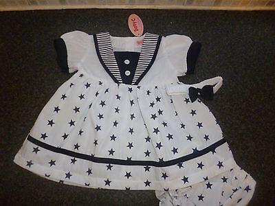 Nursery Time Baby Sailor Summer Dress Pants /& Hairband