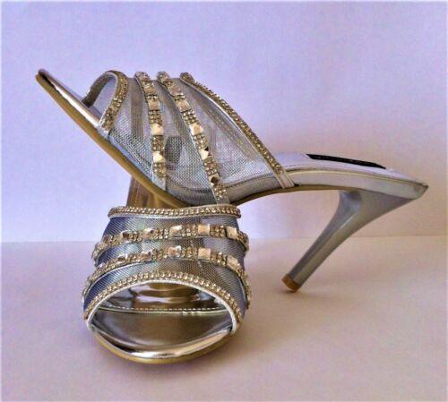 UK size 4 Melissa diamante and mesh detail sandals Sergio Todzi