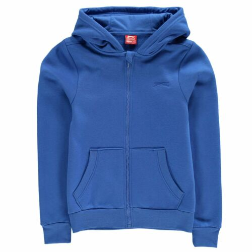 Slazenger Kids Boys Full Zipped Hoody Junior Zip Hoodie Hooded Top