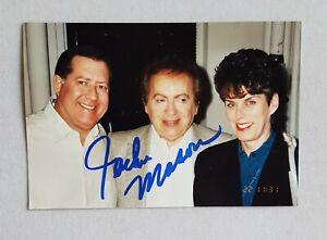 hand-signed-Jackie-Mason-color-photo-autographed-4-x-6-authentic