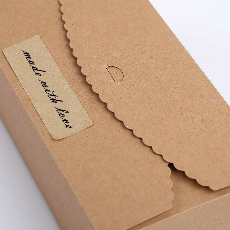 50x kraft kraft kraft paper boxes engagement birthday party bakery cake candy favour boxes 3747a4