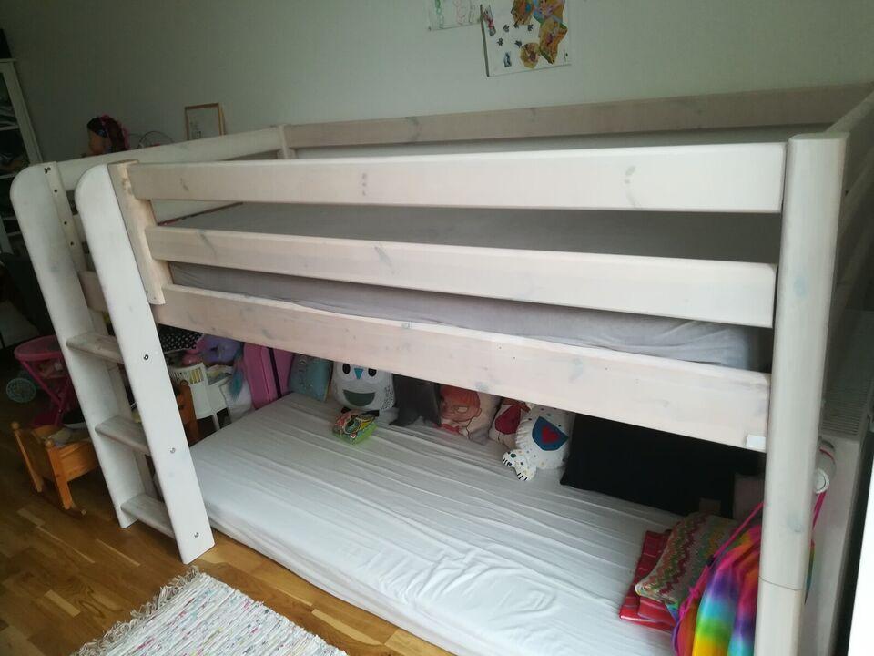 Halvhøj seng, Flexa højseng, b: 90 l: 200