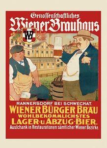 Lager Beer Bier Brauhaus Germany German Austria Vintage Poster Repro FREE S/H