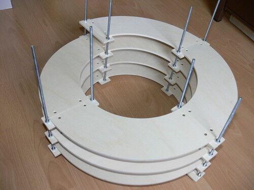 Gleiswendel 2 Ebenen Spur H0 für Märklin M-Gleis R1 eingleisig CNC gefertigt