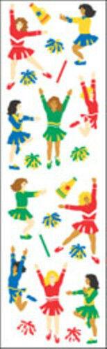 Pom Poms Mrs Grossman/'s Stickers 4 Strips Cheerleaders