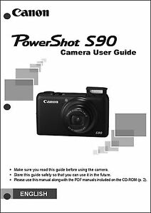 canon powershot s90 digital camera user guide instruction manual ebay rh ebay com canon powershot a590 user manual Canon A590 Review