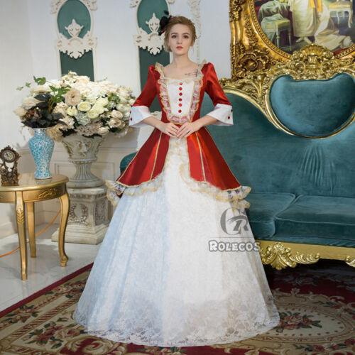 Victorian Women Vintage Party Wedding Dress Princess Halloween Cosplay Costume