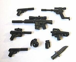BrickArms SPY Pack Weapons for Minifigures NEW 007 Secret Agent Undercover