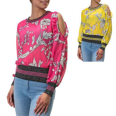 Acquista A Buon Mercato Hachiro Da Donna Manica Lunga Top Camicette Camicia Blusa Tunica Print Estate Camicia Con Lurex-mostra Il Titolo Originale