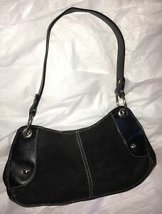 2fd4768f8b7b Image is loading A-N-A-Black-Suede-Shoulder-Bag-Purse-Small