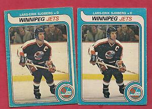 2-X-1979-80-OPC-396-JETS-NHL-ENTRY-LARS-ERIK-SJOBERG-CARD