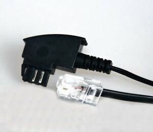 10m TAE-F Kabel 10 m RJ45 8P2C Stecker DSL Box Router VoIP 2-pol 10,0 8/2 V-DSL