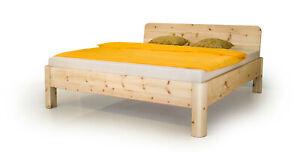 Zirbenbett-Andrea-140x200-cm-Komforthoehe-54cm-Metallfrei-Massivholzbett-Zirbe