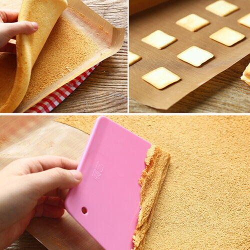 1X Silicone Baking Sheet Work Mat Oven Tray Liner Pastry Pizza Non Stick Kitchen